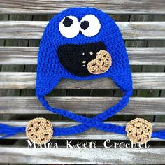 d85270f3fe1 Cookie Monster Hat Sizes 06 months by MamaKeenCrochet on Etsy