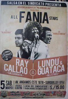 Salsa en el Sindicato All Fania Stars     Lima Peru
