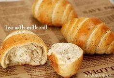 ミルクティーロールパン(レシピ有)。