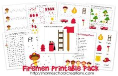Free Firemen Learning Printables from Homeschool Creations