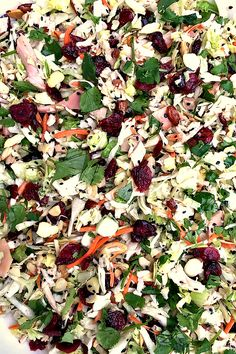 This Asian Chicken Cranberry Salad can be served as a main dish, a side salad, a potluck or holiday dish! It's always the first to go. It's just that good!