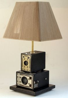 Vintage Kodak Camera Lamp
