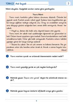 3. Sınıf Etkinlik Çöz Pekiştir Tüm Dersler Turkish Language, Education, School, Books, Libros, Book, Onderwijs, Book Illustrations, Learning