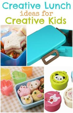 Creative Lunches for Creative Kids! Back to school means packing lunches! Why not surprise your little ones with a fun lunch! Great for picky eaters!