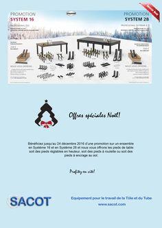 Offre spéciale Noël sur les tables de soudure et accessoires Siegmund