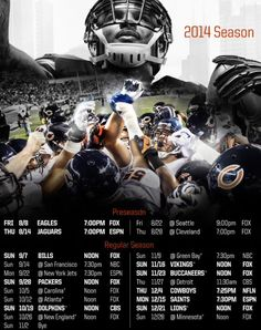 2014 Chicago Bears Schedule