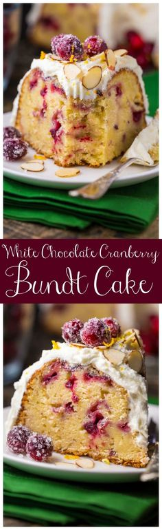This White Chocolate Cranberry Bundt Cake is so festive and perfect for celebrating the holiday season! This White Chocolate Cranberry Bundt Cake is so festive and perfect for celebrating the holiday season! Holiday Baking, Christmas Baking, Christmas Desserts, Christmas Chocolates, Christmas Christmas, Xmas, Just Desserts, Delicious Desserts, Yummy Food