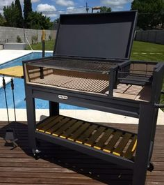 Bbq Grill Diy, Grill Oven, Barbecue Design, Grill Design, Building A Wooden House, Backyard Bbq Pit, Asado Grill, Custom Bbq Pits, Flexible Furniture