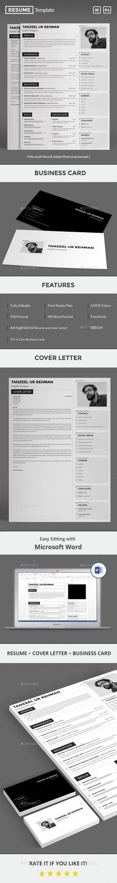 #Resume - Resumes #Stationery Download here: https://graphicriver.net/item/resume/19449077?ref=alena994
