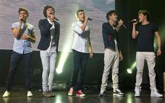 One Direction performing at the iTunes Festival at the Roundhouse in Camden.