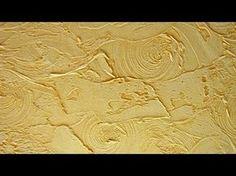 Декоративная штукатурка стен шпаклевкой своими руками - YouTube