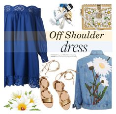 """Spring Trend: Off-Shoulder Dresses"" by helenevlacho ❤ liked on Polyvore featuring WithChic, Loeffler Randall, Dolce&Gabbana, contestentry and offshoulderdress"