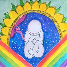 Divine Birth Art by elettraministeri Birth art Birth Art, Disney Characters, Fictional Characters, Folk, Illustration, Artwork, Work Of Art, Popular, Auguste Rodin Artwork