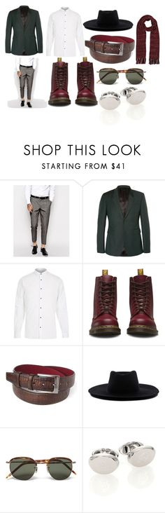 """""""Men's Wear"""" by demijay on Polyvore featuring ASOS, Burberry, River Island, Dr. Martens, Off-White, Eyevan 7285, Dunhill, Barneys New York, mens and men"""