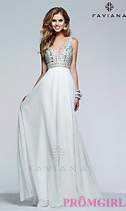 Buy Full Length V-Neck Formal Gown by Faviana at PromGirl
