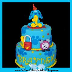Blue's Clues Birthday cake---even has her name on it (spelled wrong of course)