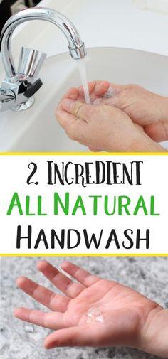2 ingredient hand wash  - good after handling chickens.