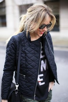 Quilted jacket. http://usa.frenchconnection.com/product/woman%20Collections%20coats%20and%20jackets/75BXK/Assym%20Moto%20Jacket.htm?affiliate_id=73861&click_id=909382801