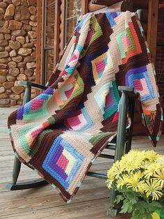 Log Cabin Scrapghan Crochet Pattern