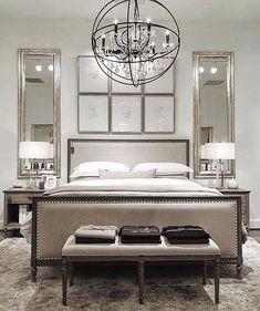 Want to Know More About Luxury All White Bedroom Decor? White Bedroom Decor, Bedroom Colors, Home Decor Bedroom, Modern Bedroom, Bedroom Furniture, Bedroom Ideas, Restoration Hardware Bedroom, Home Decoracion, Elegant Home Decor