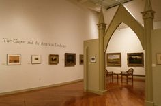 """""""The Crayon and the American Landscape"""" from the Christian A. Johnson Memorial Gallery. January 1-February 20, 1994 (photo: Erik Borg)"""