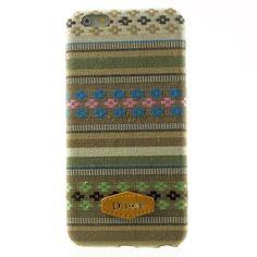 Javu - iPhone 6 Hoesje - Back Case Hard Canvas Tribal Groen   Shop4Hoesjes