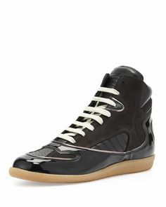 Contoured High-Top Sneaker, Black by Maison Martin Margiela at Bergdorf Goodman.