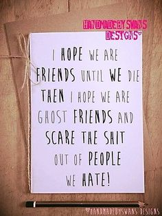 Ghost friends #funny #greeting card novelty #birthday best friend forever,  View more on the LINK: http://www.zeppy.io/product/gb/2/141975051253/