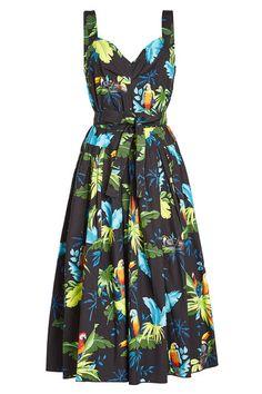 Платье Миди платье из хлопка | Marc Jacobs