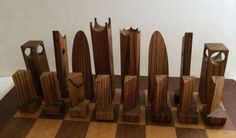 MCM wooden chess set