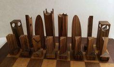 MCM wooden chess set