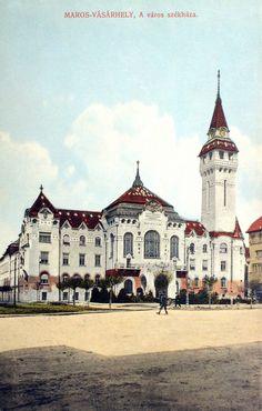 Marosvásárhely:városháza.1915 Folk Music, Hungary, Buildings, Traditional, Mansions, History, House Styles, Places, Decor