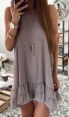 #summer #fashion / light purple dress