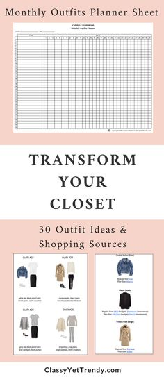 The Essential Capsule Closet: The Complete Capsule Wardrobe Guide. In this 80-page eBook will find out how to you discover your personal style, discover core closet essentials (with shopping links for each), how to choose a color palette, 20 color palettes, how to create a capsule wardrobe visual guide, 30 outfit ideas, how to coordinate your clothes, how to coordinate your shoes and bags, 5 capsule wardrobe plans, worksheets, monthly outfits planner & More!