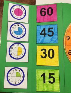 Learning Clock, Kids Learning, Teaching Time, Teaching Math, Kindergarten Math Worksheets, Preschool Activities, Math For Kids, Fun Math, Educational Crafts