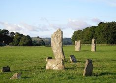 Neolithic Standing Stones in Kilmartin Glen, north of Lochgilphead