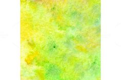 Watercolor neon green yellow texture. Textures. $5.00