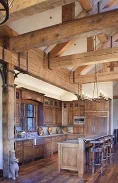 Beautiful Cabin & Rustic Kitchen