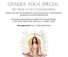 Eine Reise in den Energiekörper Vielleicht ist dir des Begriff Chakra schon einmal begegnet und vielleicht fragst du dich, was es damit genau auf sich hat? Ganz gleich aus welchem Grund du hier gelandet bist, Jeder/ Jede ist herzlich Willkommen mit mir auf die Reise des Energiekörpers zu gehen. Du erfährst, was Chakren genau sind, wofür sie stehen und wie du die Chakren aktivieren und harmonisieren kannst. Lerne, wie du mit Hilfe der Chakren neue Kraft schöpfen kannst. Chakra Yoga, Online Yoga, Chakras, Welcome, Voyage, Germany