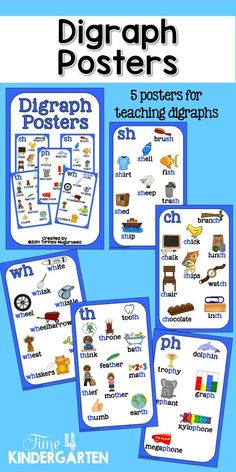 digraph posters includes, ch, sh, th, ph and wh prints out at 8.5x14