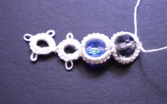 Tat-a-Renda: Bead in Split Ring With Needle  Tatting coming back!!!