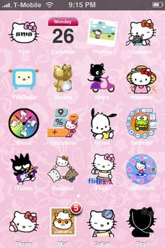 Guess what, iphone hello kitty icons are meaningful, they truly describe