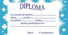 Activitățile și proiectele desfășurate de școlărei pe parcursul iernii merită să fie recompensate prin oferirea unei diplome. Social Security, Personalized Items, Cards, Maps, Playing Cards