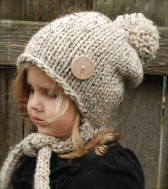 Knitting PATTERN-The Kymmber Slouchy (Toddler, Child and Adult sizes) also can be Made to Order Knitting For Kids, Loom Knitting, Free Knitting, Knitting Projects, Baby Knitting, Crochet Baby, Crochet Projects, Knit Crochet, Knitting Patterns