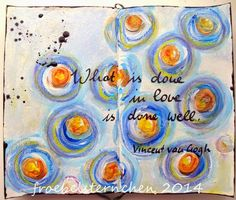 froebelsternchen: Vincent Van Gogh inspired Art Journaling with Dina Wakley