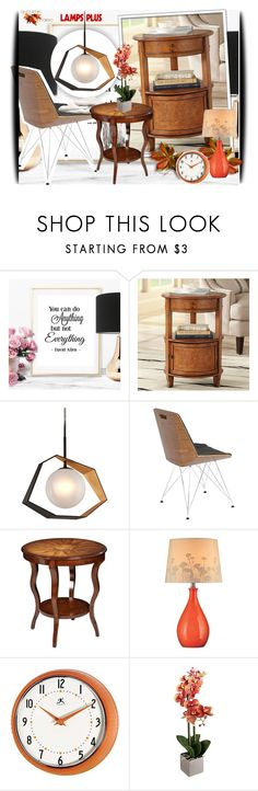 """LampsPlus 1/29"" by amerlinakasumovic ❤ liked on Polyvore featuring interior, interiors, interior design, home, home decor, interior decorating, Troy, Lite Source and modern"
