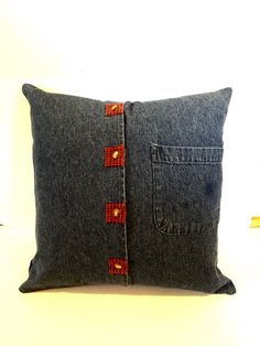 Recycled Denim Blue Jean Pillow Sham by jeanoligy on Etsy