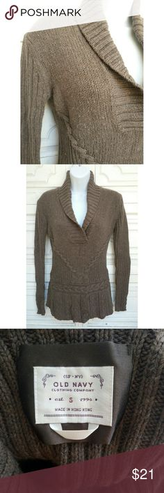 Brown long sleeves sweater with collar Brown long sleeves sweater with collar. Old Navy. Small. Warm and comfy.  Used good condition. Has some pillings but not very noticeable.  #pakainin #fallfashion #winterfahion #winterclothing #winterclothing #warmandcomfy Old Navy Sweaters V-Necks