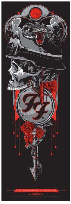 Foo Fighters - gig poster - Ken Taylor