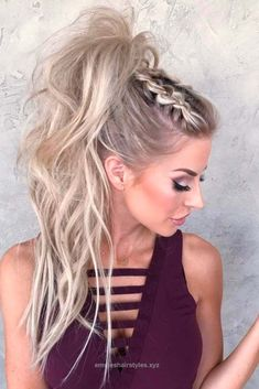 Perfect Ponytail styles never go out. A pony, as an element of a hairstyle, is preferred by most of ladies due to its versatility and cute look.  The post  Ponytail styles never go out. A pony, .. #HairCareArt